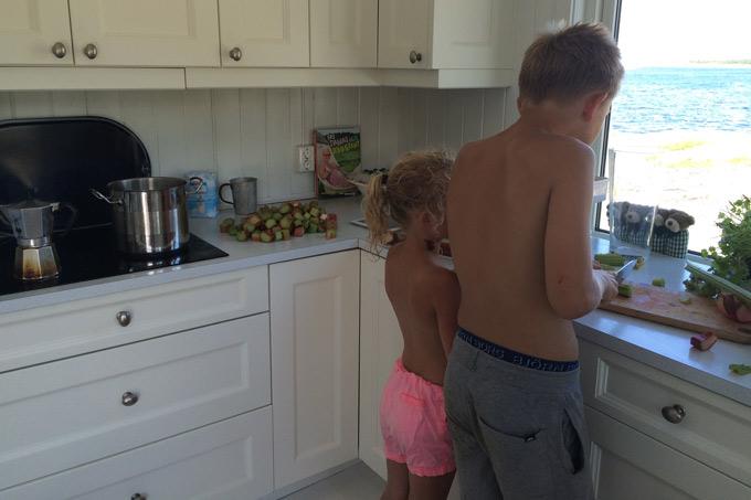 Barna lager rabarbrasaft